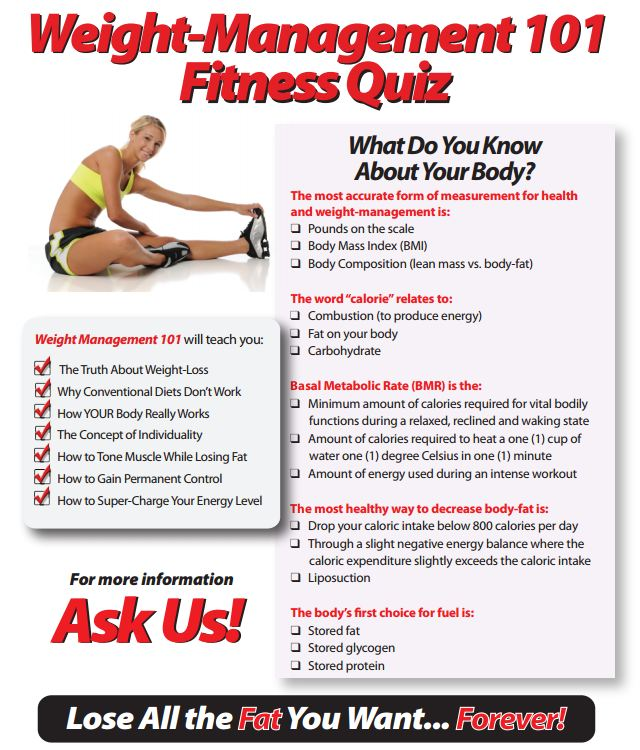 Weight Management 101-Fitness Quiz