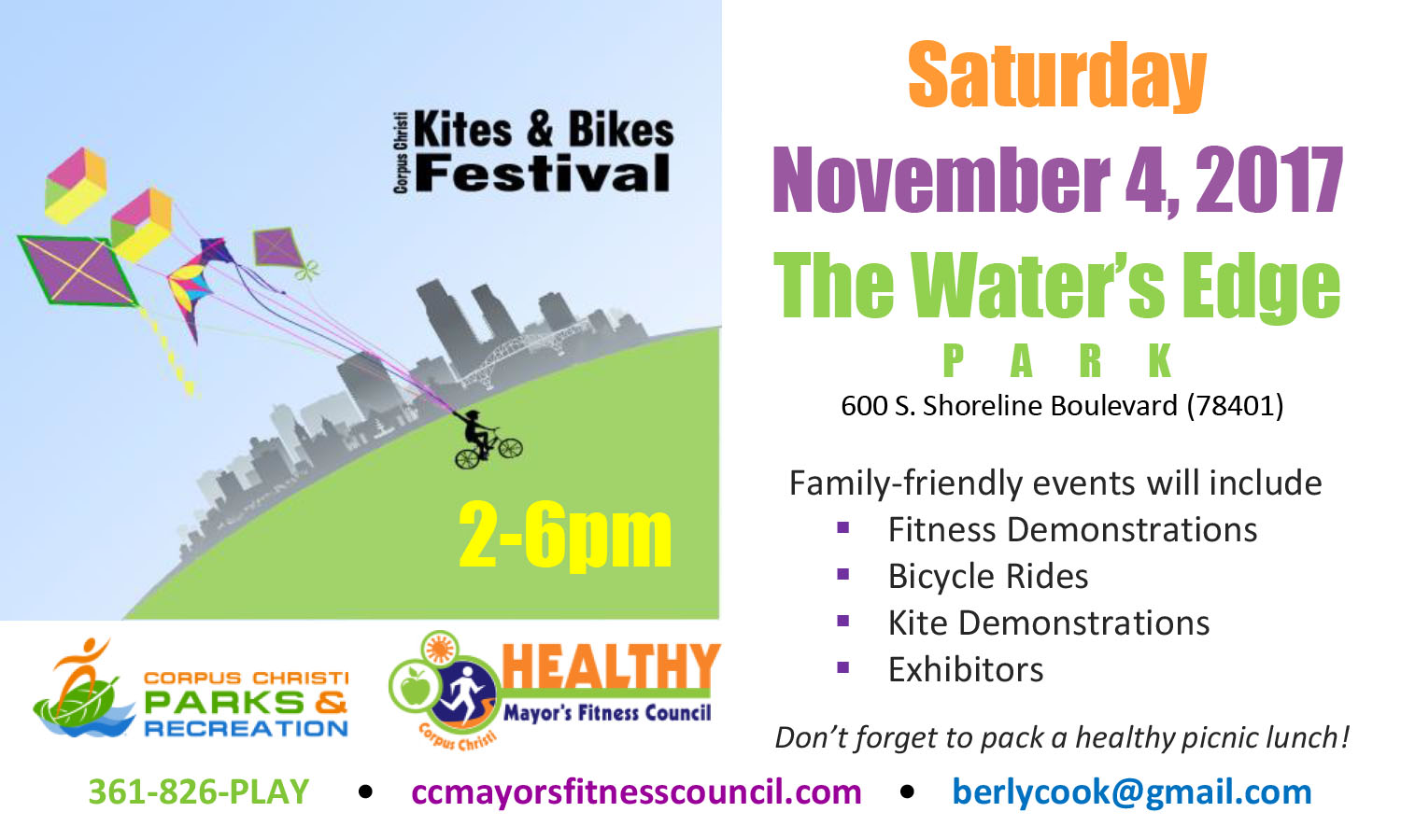 Kites and Bikes Festival @ Water's Edge Park | Corpus Christi | Texas | United States
